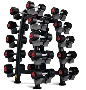 ST2 10 PAIR X-BRACE DUMBBELL RACK