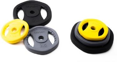ZVO Urethane HX Studio Barbell Set w/ Chrome Studio Bar (YL,GY,BK)