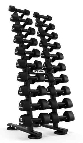 ST2 1-10kg Studio Dumbbell Rack with PU Saddle