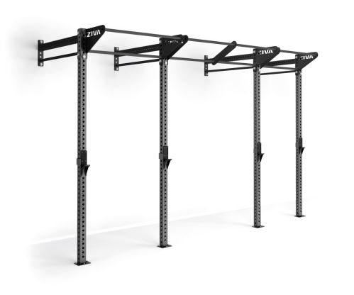 9'High Wall-Mounted Modular Rig (14')-Charcoal/ Charcoal