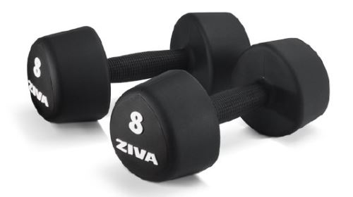 ZVO Urethane Tribell Studio Dumbbell 1 kg - 10 kg set