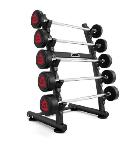 ST2 5 Piece Vertical Barbell Rack - black
