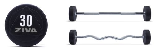 ZVO Solid Steel Urethane Barbells