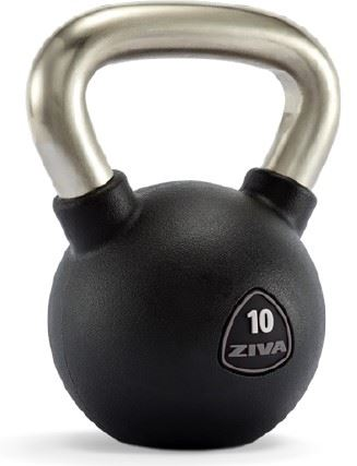 SL Solid Steel Virgin Rubber Kettlebells Triangle Label
