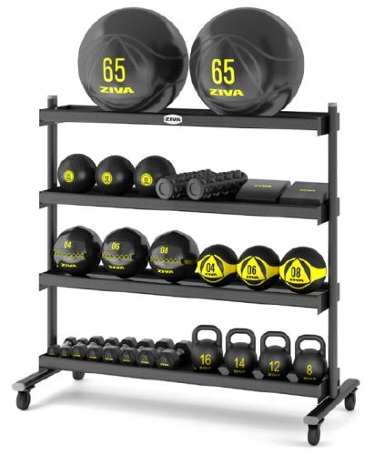 4 Tier Storage Rack with Wheels